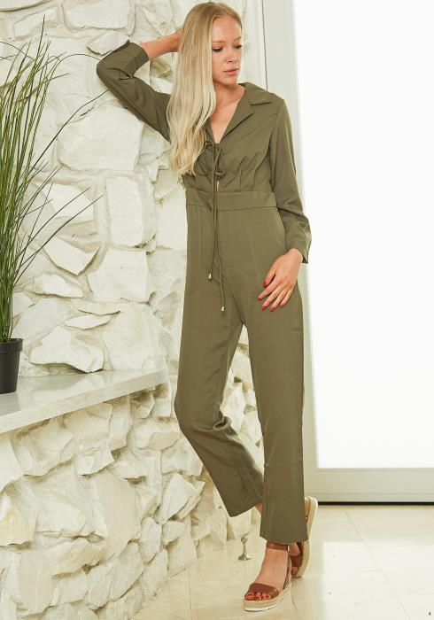 Tansy Lace Up Jumpsuit