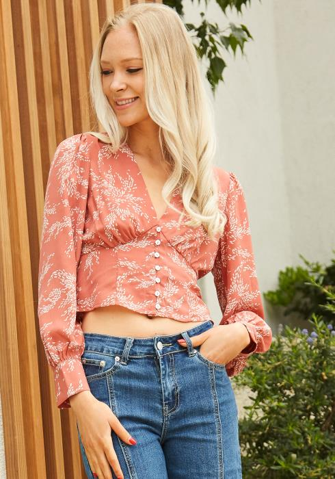 Tansy Floral Button Up Top