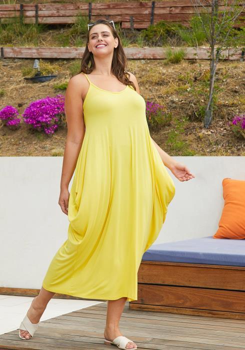 Asoph Plus Size Drape Maxi Dresses