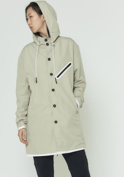 Hooded Jacket In Water Repellent Fabric