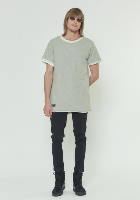 LAYERED SHORT SLEEVE FRENCH TERRY TEE