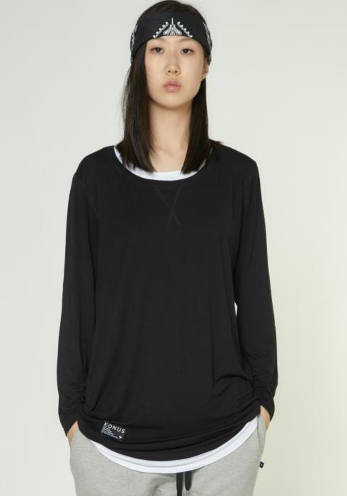3/4 SLEEVE TEE WITH LAYERING DETAIL