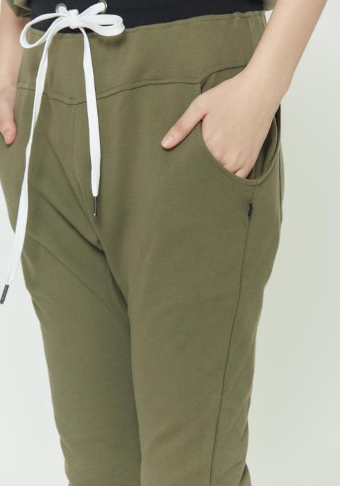 Drop Crotch Sweat Pants With Side Pocket Details