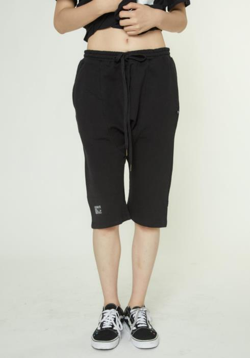 Drop Crotch French Terry Shorts