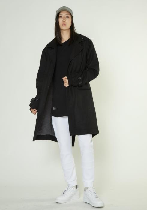 WOOL BLEND COAT WITH FISH TAIL