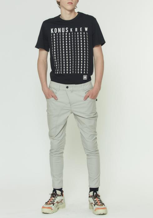 CHINO PANT WITH ASYMMETRICAL ZIPPER FLY
