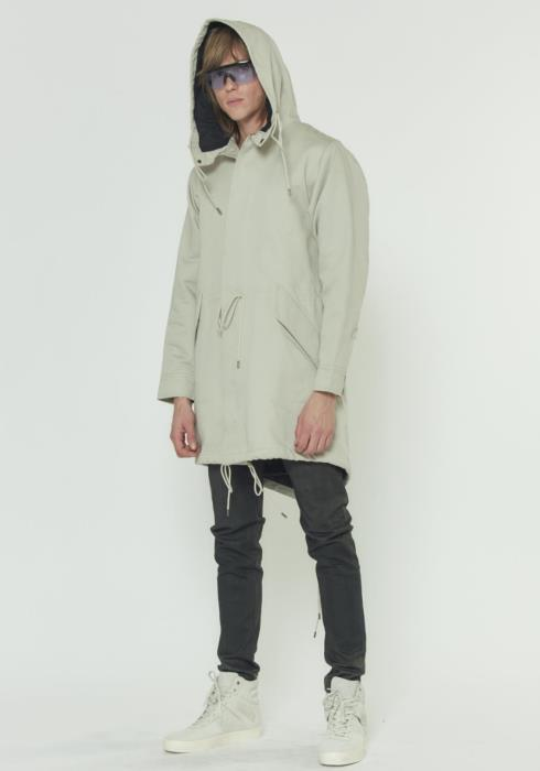Poly Filled Hooded Twill Jacket