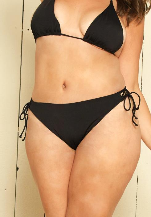 Asoph Plus Size Side Tie Bikini Bottom