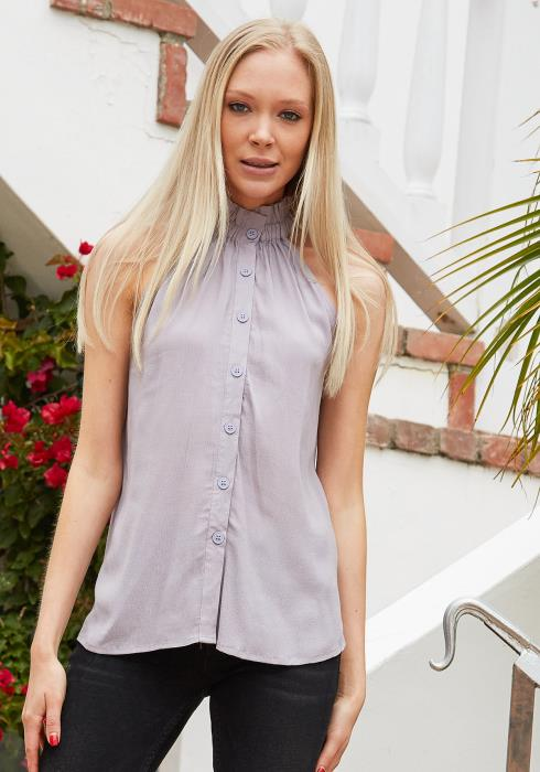 Tansy Halter Button Up Top