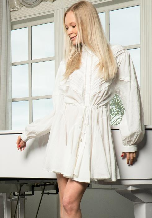Tansy Lace Shirt Midi Dress