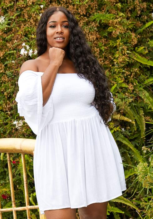 Asoph Plus Size Off Shoulder Sun Dress