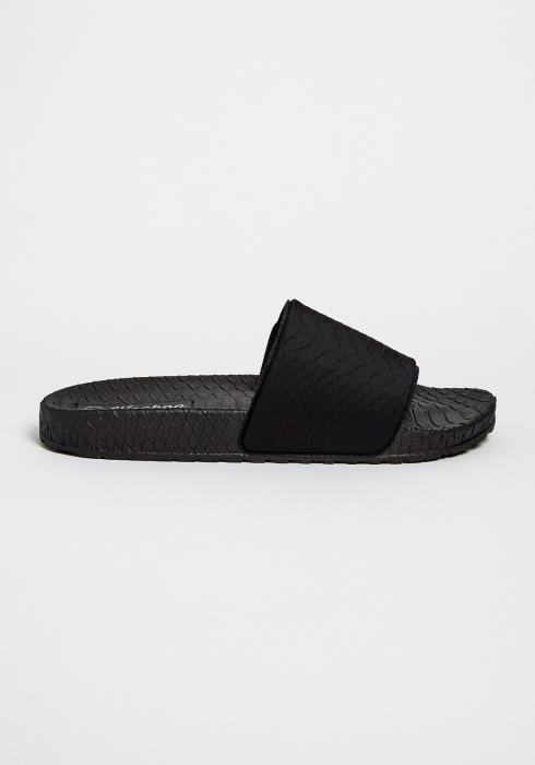 Neon Textured Basic Sandals
