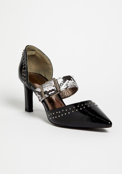 Studded Black Snake Pump