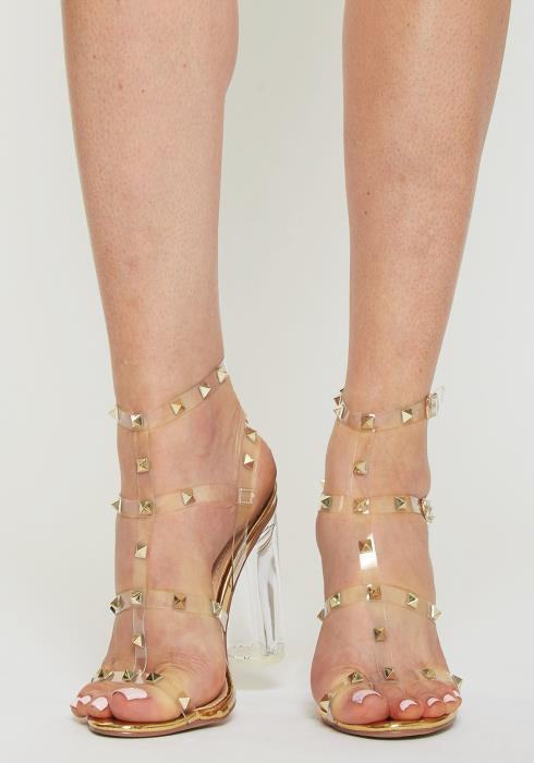 Clear Studded Heels