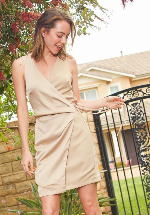 Tansy Wrap Mini Dress