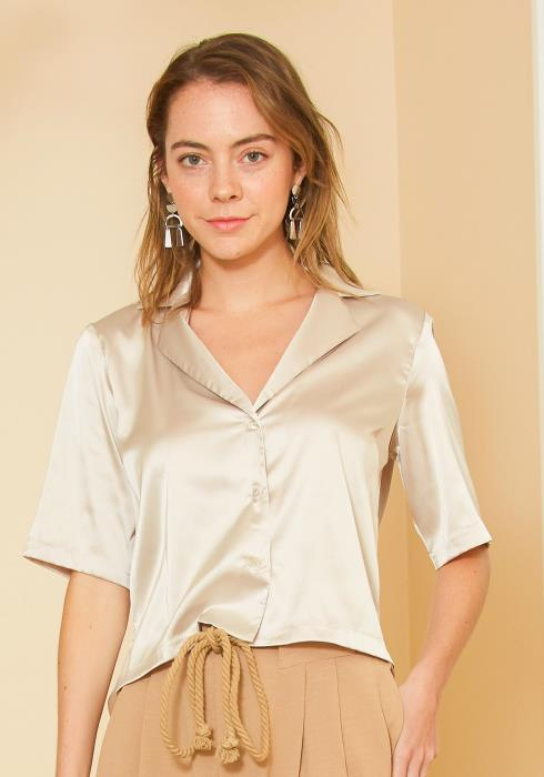 Tansy Silk Button up Top