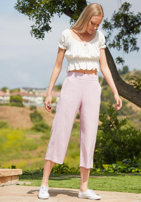 Tansy Cropped Linen Pants