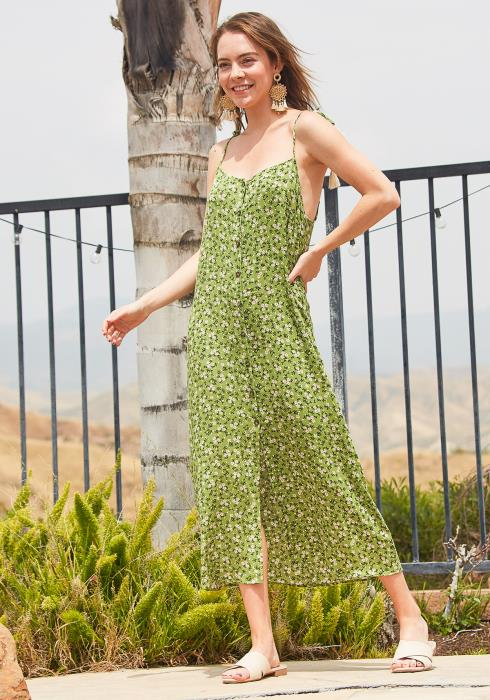 Tansy Button Up Floral Maxi Dress