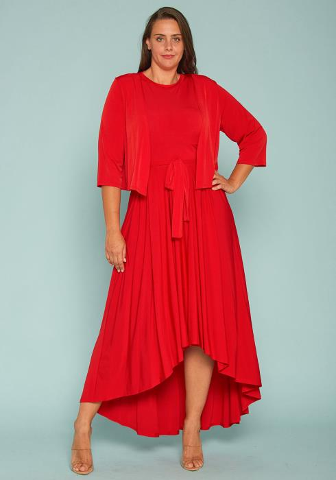 Asoph Plus Size Maxi Dress & Jacket Set