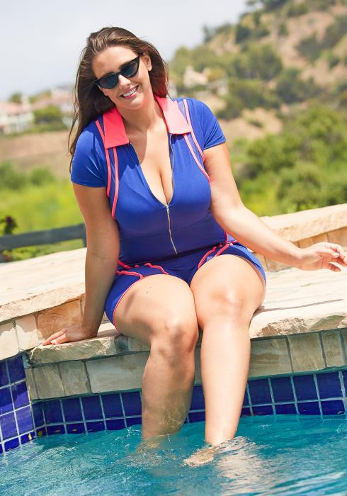 Asoph Plus Size Retro Fitted Romper