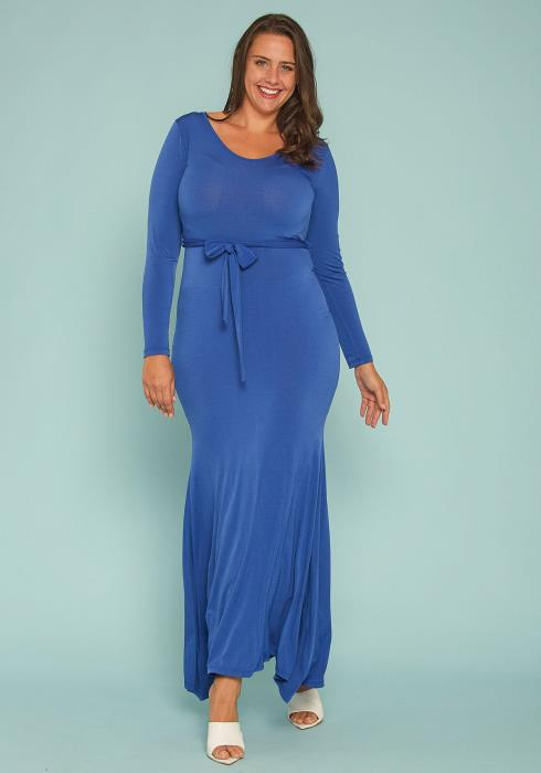 Asoph Plus Size Belted Gown