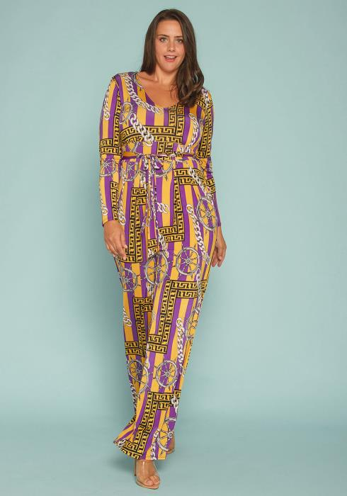 Asoph Plus Size Multi Print Jumpsuit