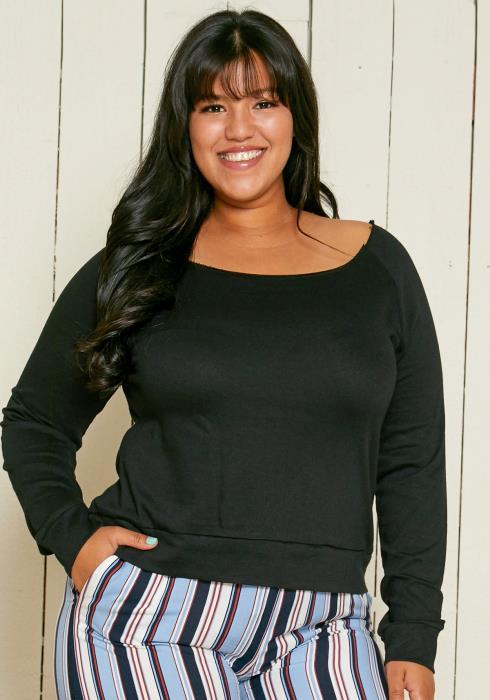 Asoph Plus Size Boatneck Sweater