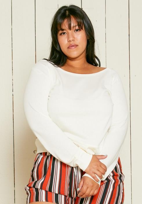 Asoph Plus Size Boatneck Sweater