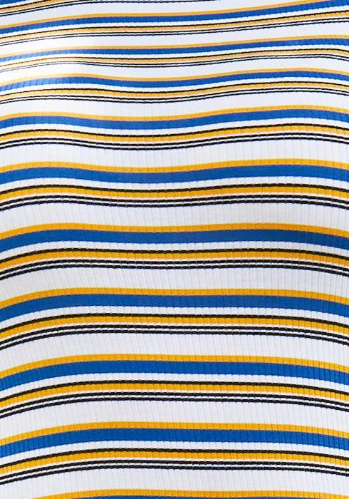 Asoph Plus Size Stripe Ribbed Bodysuit