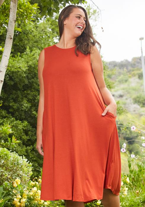 Asoph Plus Size Basic Tank Midi Dress