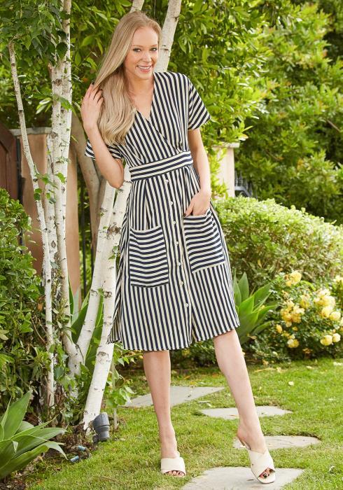 Tansy Stripe Midi Dress