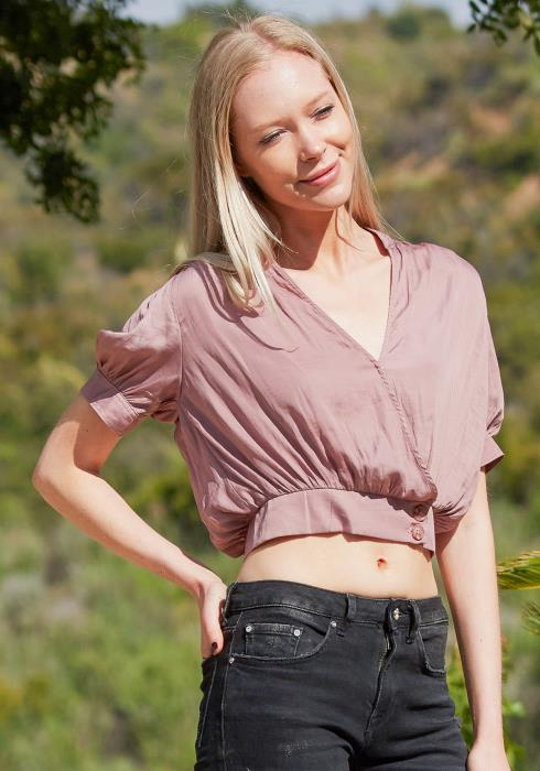 Tansy Wrap Crop Top