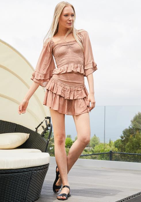 Tansy Smocked Skirt