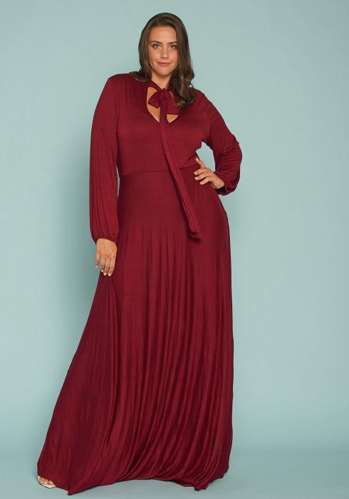 Asoph Plus Size Cutout Flare Maxi Dress
