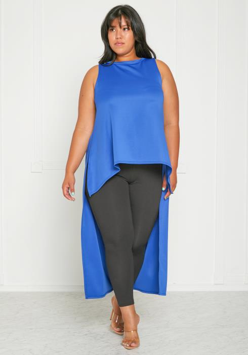 Asoph Plus Size Sleeveless Tunic Top
