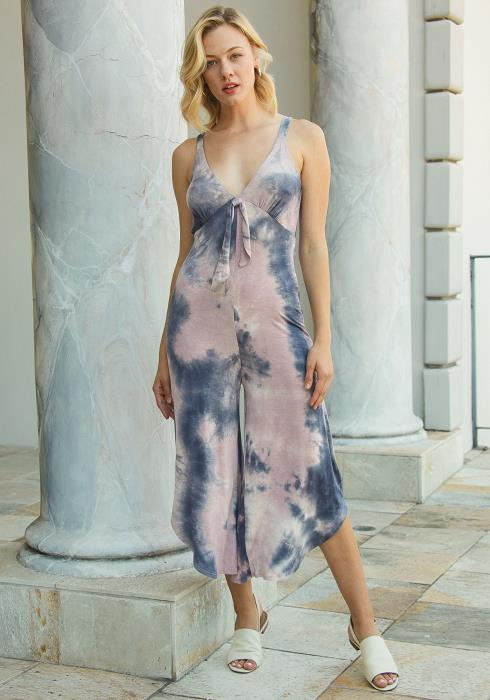 Tansy Cropped Tie Dye Jumpsuit