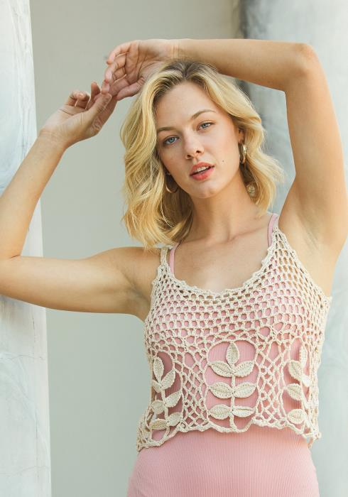Tansy Crocheted Cami Top