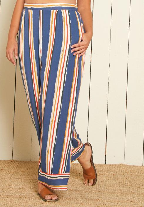 Asoph Plus Size Stripe Wide Leg Pants