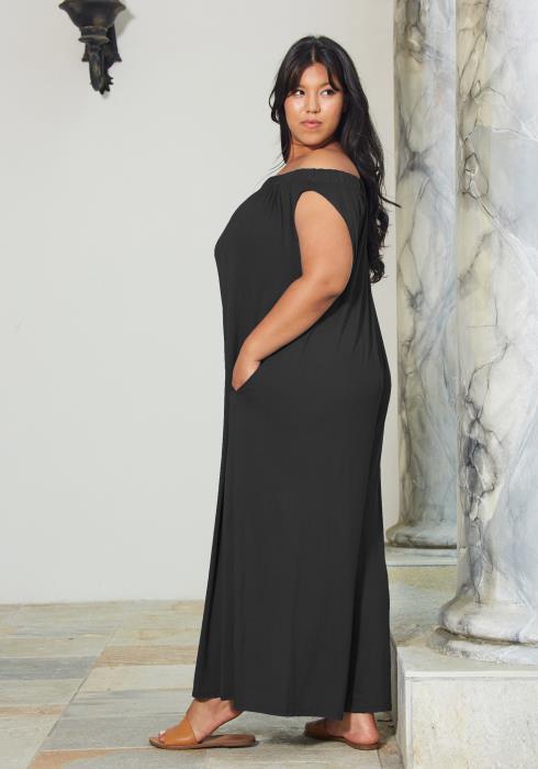 Asoph Plus Size Off Shoulder Dress