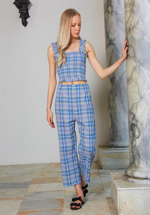 Tansy Plaid Trousers