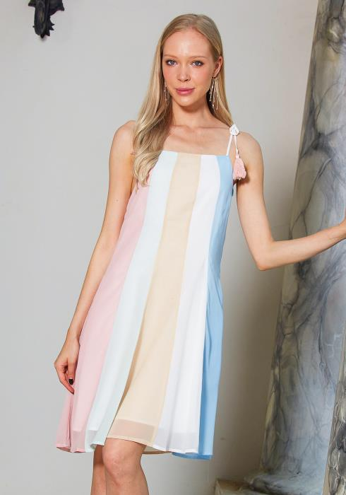 Tansy Color Block Tent Dress