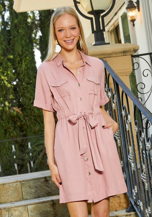 Tansy Button Up Shirt Dress
