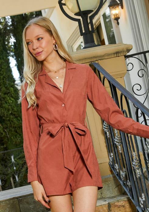 Tansy Button Up Shirt Romper