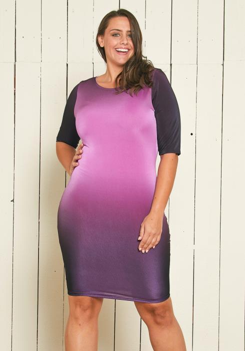 Asoph Plus Size Ombre Party Dress
