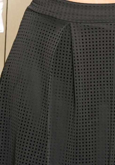 Asoph Plus Size Laser Cutout Midi Skirt