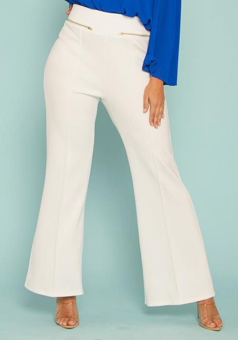 Asoph Plus Size High Waist Flared Pants