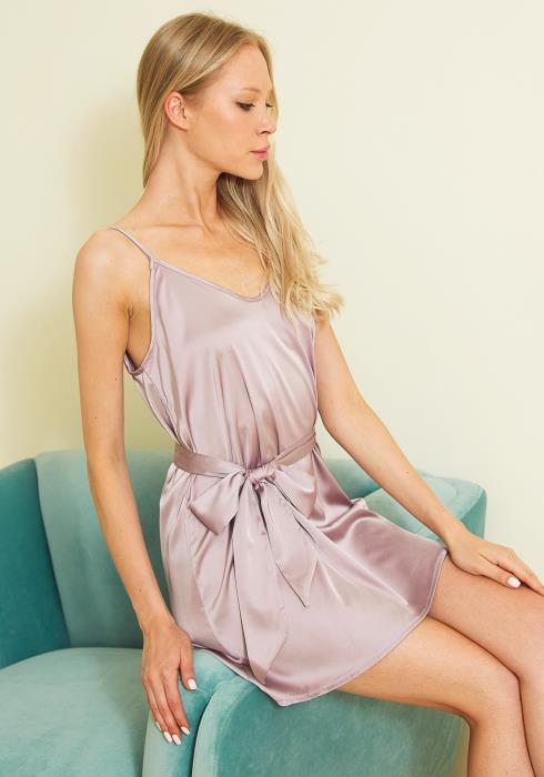 Tansy Satin Tie Waist Dress