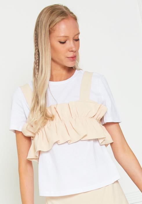 Tansy Short Sleeve Layered Top