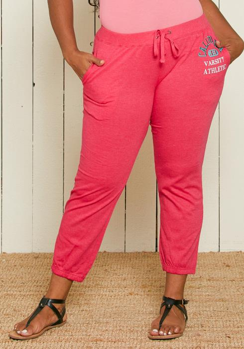Asoph Plus Size Varsity Athletic Jogger Pants