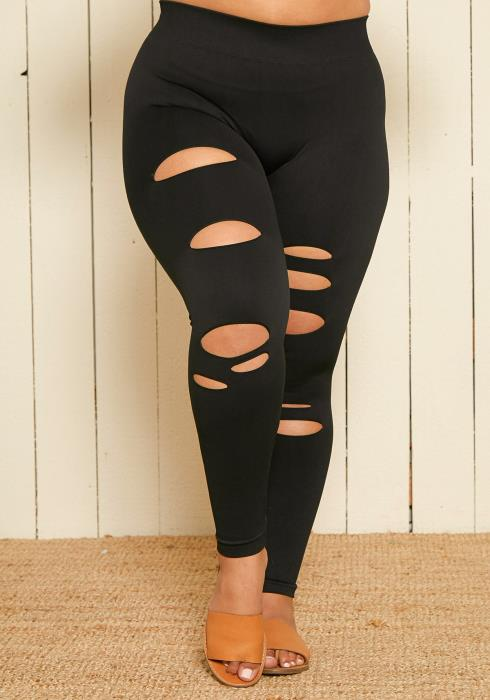 Nikibiki Seamless x Asoph Plus Size Distressed Leggings